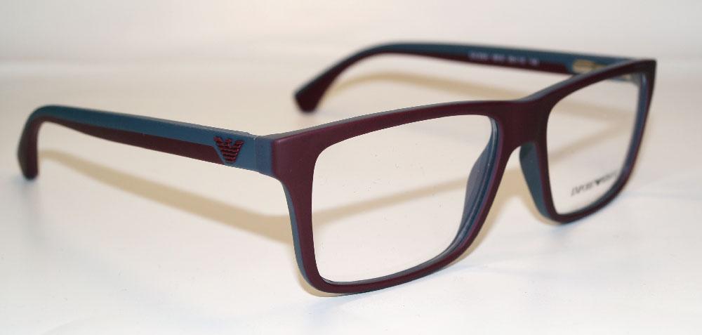 EMPORIO ARMANI Brillenfassung Brillengestell Eyeglasses Frame EA 3034 5616 Gr.55