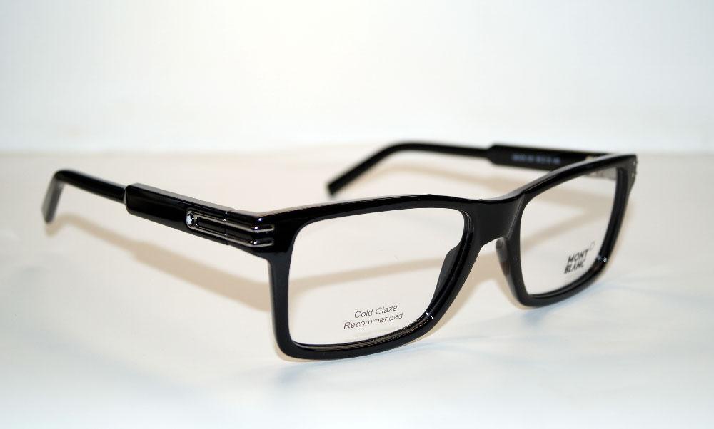 MONT BLANC Brillenfassung Brillengestell Eyeglasses MB 0676 001 Gr.56