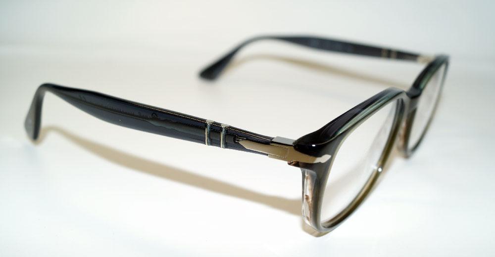 PERSOL Brillenfassung Brillengestell Eyeglasses Frame PO 3163 1012 Gr.54