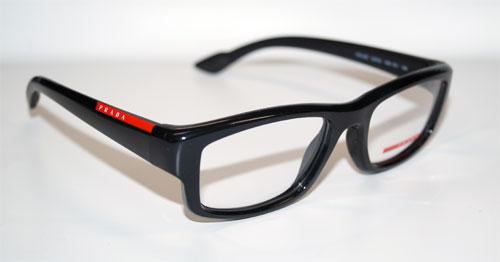 PRADA Brillenfassung Brillengestell Eyeglasses Frame 0PS 02EV 1AB1O1 Gr. 52