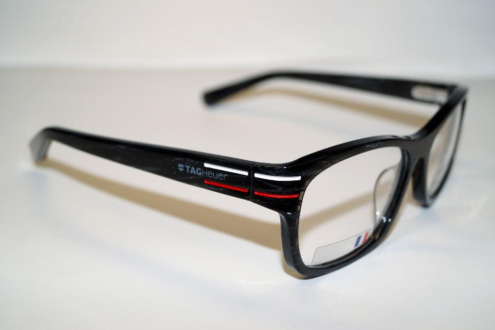 Tag Heuer Brillenfassung Brillengestell Eyeglasses Frame TH0534 003 Größe 53