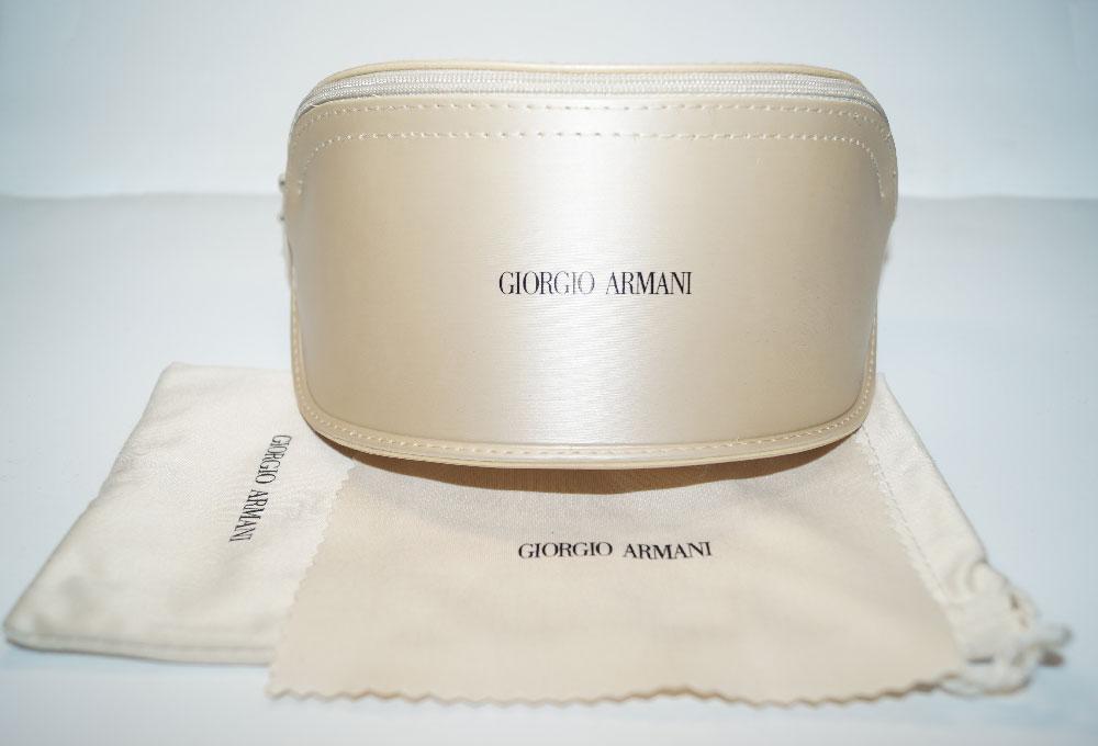 GIORGIO ARMANI Sonnenbrillenetui Case for Sunglasses Gold Ivory