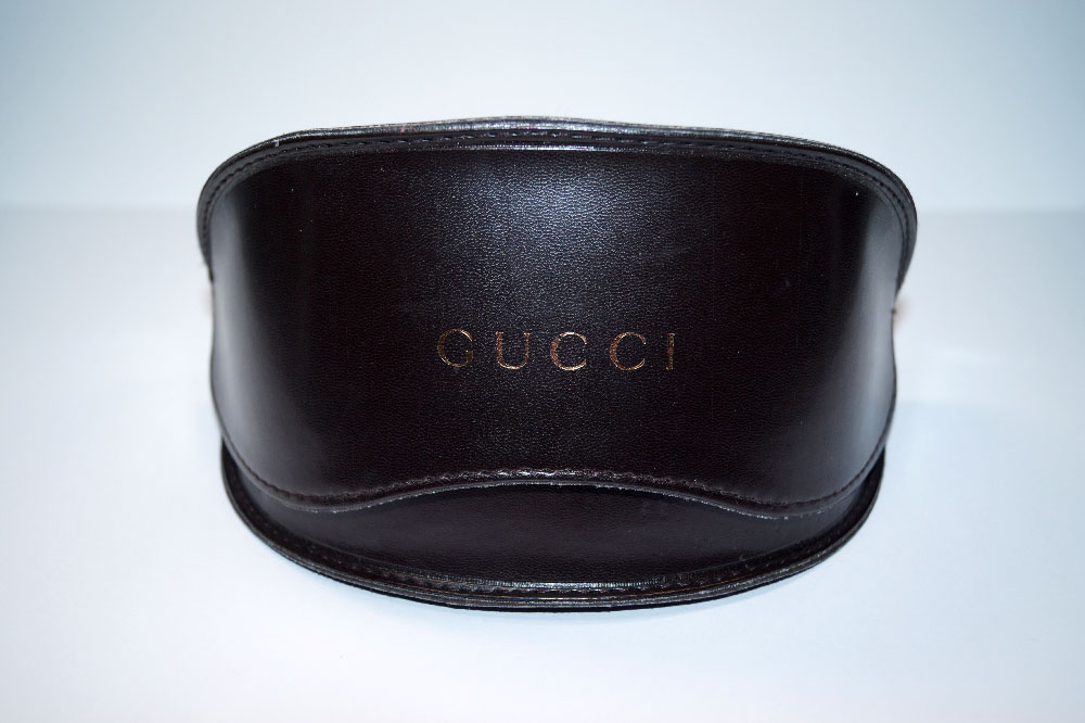 GUCCI Sonnenbrillen Etui Sunglasses Case Dark Brown Black