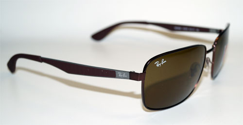 RAY BAN Sonnenbrille Sunglasses RB 3529 012/73 Gr.61 Metal Square